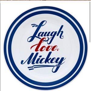 """Disney Parks Americana Mickey Ceramic Dish 7"""" dia."""